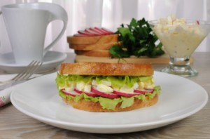 sendvič vajíčka ředkvička